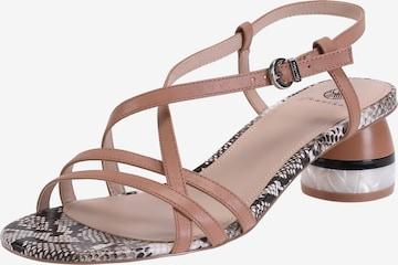 Ekonika Strap Sandals in Brown