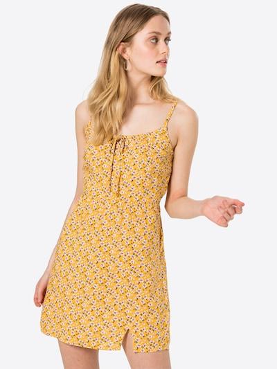 HOLLISTER Robe d'été en jaune / vert / blanc, Vue avec modèle