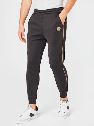 SikSilk Nohavice - zlatá / čierna, Model/-ka