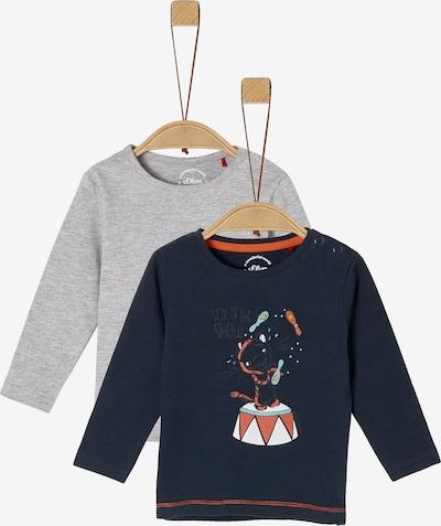 s.Oliver Shirt in marine / hellgrau / orange / weiß, Produktansicht