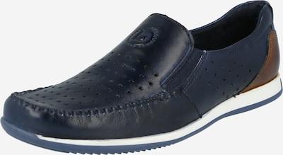 bugatti Slipper 'Tomeo' in dunkelblau / braun, Produktansicht