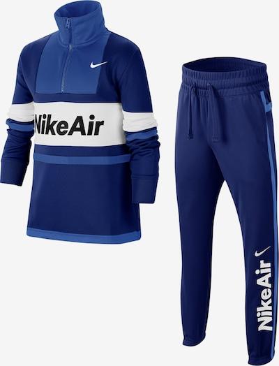 Nike Sportswear Trainingsanzug in blau / weiß, Produktansicht