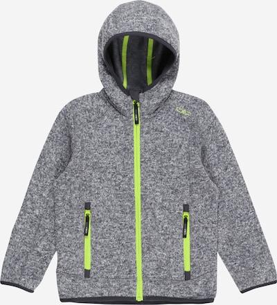 CMP Athletic Fleece Jacket in Neon yellow / mottled grey, Item view