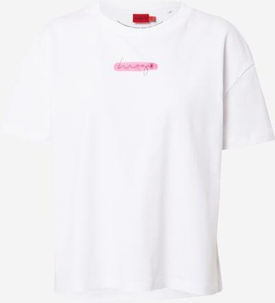 Marškinėliai iš HUGO, spalva – rožinė / balta, Prekių apžvalga