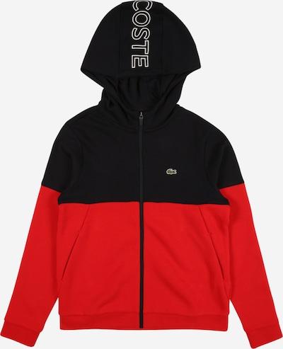LACOSTE Sweatjacke in rot / schwarz / weiß, Produktansicht