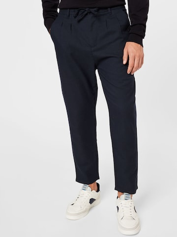 Only & Sons Pleat-Front Pants 'DEW' in Blue