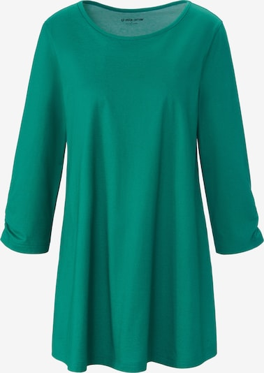 Green Cotton Shirt in grün, Produktansicht