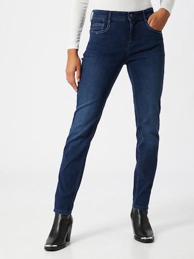 Gang Jean 'Amelie' en bleu foncé, Vue avec modèle