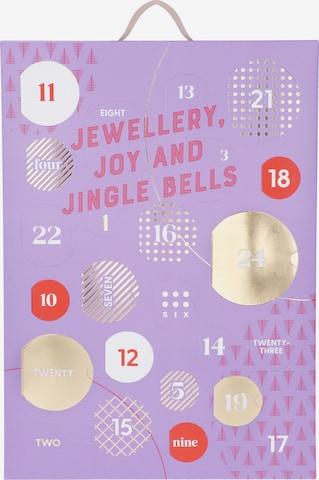 Six Jewelry Set 'Adventskalender Gold Edition ' ' in Purple