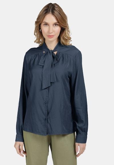 DreiMaster Klassik Bluse in marine, Modelansicht