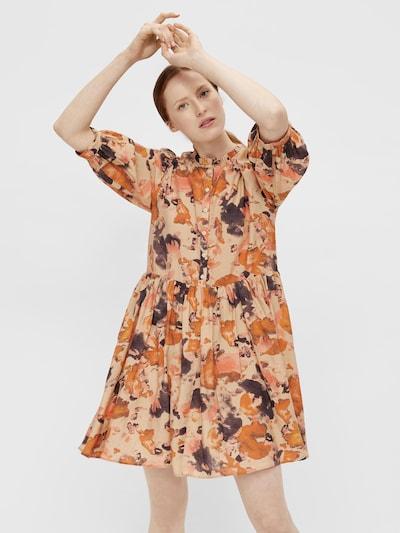 Rochie tip bluză 'OBJGALINA 114' OBJECT pe nisipiu / albastru porumbel / portocaliu închis / roz pal, Vizualizare model