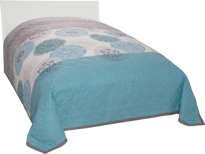 MY HOME Blankets 'Tesso' in Turquoise / Grey, Item view