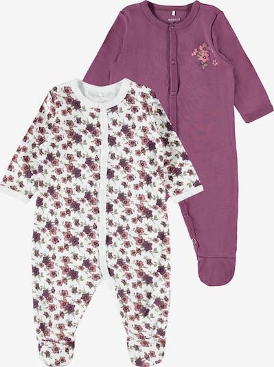 NAME IT Schlafanzug in oliv / beere / rosé / weiß, Produktansicht