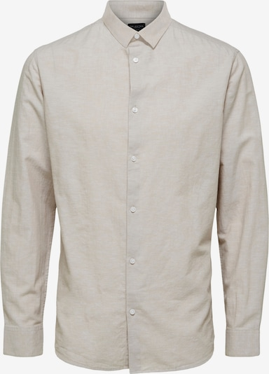 SELECTED HOMME Hemd 'SLHSLIMNEW' in beige, Produktansicht