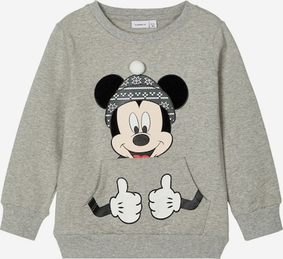 NAME IT Sweatshirt 'Mickey Mouse' in grau / schwarz, Produktansicht