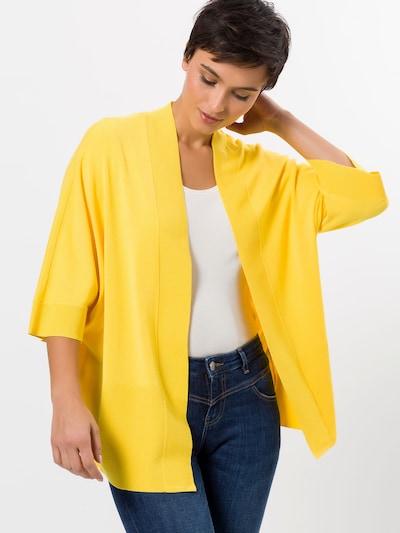 zero Strickjacke in gelb, Modelansicht