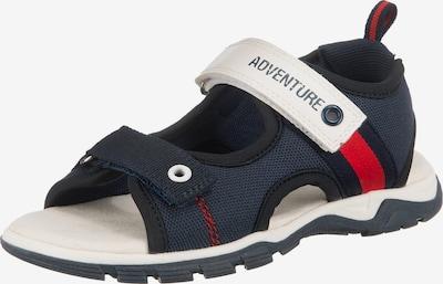 Sprox Sandalen für Jungen in rot / weiß, Produktansicht