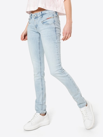 FREEMAN T. PORTER Jeans 'Alexa' in de kleur Lichtblauw, Modelweergave
