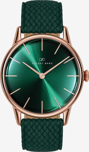 August Berg Uhr 'Serenity Dark Green Perlon 32mm' in rosegold / grün, Produktansicht