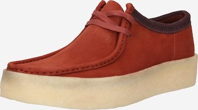 Clarks Originals Schnürschuh 'Wallabee' in rot / burgunder, Produktansicht