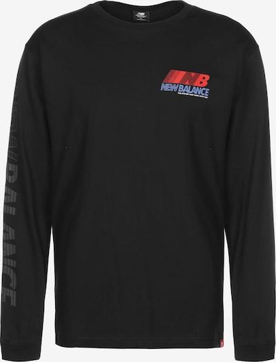 new balance Longsleeve ' MT03510 ' in blau / rot / schwarz, Produktansicht