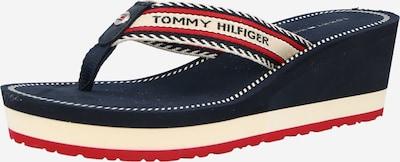 TOMMY HILFIGER Iešļūcenes ar pirkstu atdalītāju naktszils / sarkans / balts, Preces skats