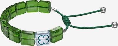 Swarovski Armband 'Letra' in hellblau / grün / petrol / dunkelgrün / silber, Produktansicht