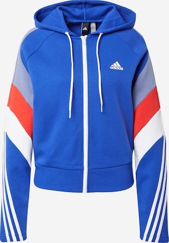 ADIDAS PERFORMANCE Sportlik trikoojakk, värv sinine