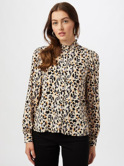 Camicia da donna 'LANA' VILA di colore beige / arancione / nero, Visualizzazione modelli