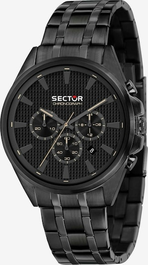 SECTOR Analoog horloge '280 44MM CHR BLACK DIAL BR BLACK' in de kleur Zwart, Productweergave