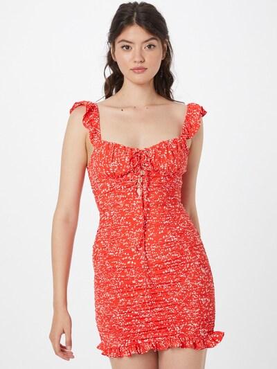 Rochie 'BY MY SIDE' Love Triangle pe roșu deschis / alb, Vizualizare model