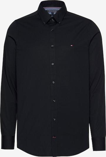 TOMMY HILFIGER Hemd in schwarz: Frontalansicht