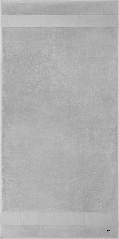 LACOSTE Shower Towel 'LE CROCO' in Grey