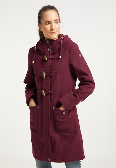Palton de primăvară-toamnă DreiMaster Vintage pe burgund, Vizualizare model