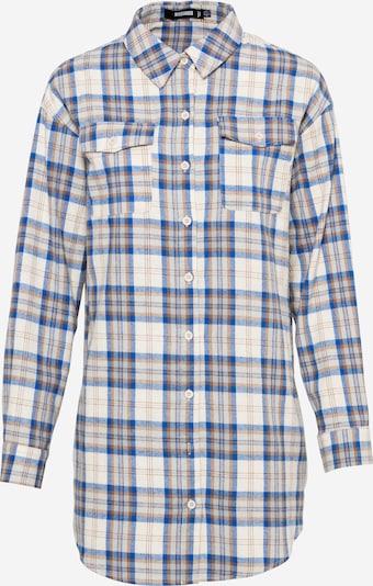 Missguided Рокля тип риза в бежово / синьо / кафяво, Преглед на продукта