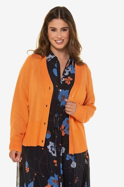 Ulla Popken Strickjacke in orange, Modelansicht