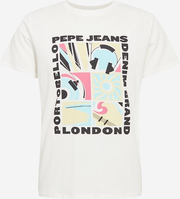 Pepe Jeans Тениска 'MAC' в бяло
