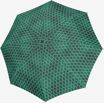 KNIRPS Regenschirm in dunkelgrau / grün / weiß, Produktansicht