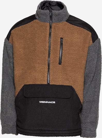 Jachetă  fleece Mennace pe maro deschis / gri / negru, Vizualizare produs