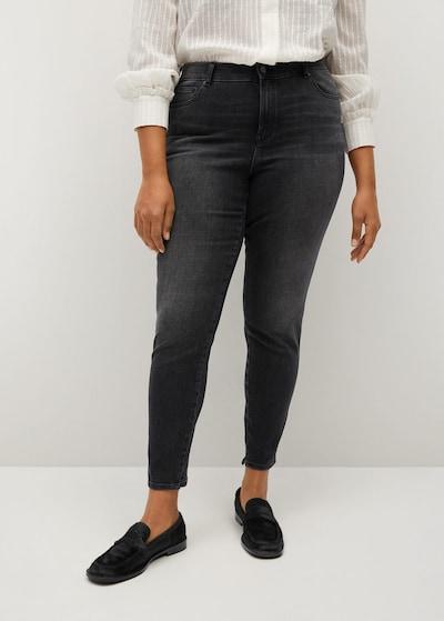 VIOLETA by Mango Jeans 'Irene' in black denim, Modelansicht
