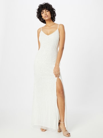 LACE & BEADS Evening Dress 'Mandy' in White