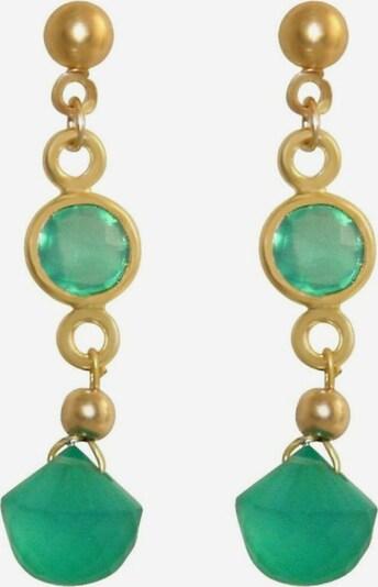 Gemshine Ohrringe in gold / grün, Produktansicht
