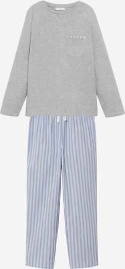 MANGO KIDS Pyjama in blau / graumeliert / weiß, Produktansicht