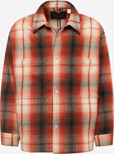 LEVI'S Sweatshirtjacke in beige / rot / schwarz, Produktansicht