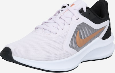 NIKE Chaussure de course 'Downshifter 10' en jaune foncé / gris / noir / blanc, Vue avec produit