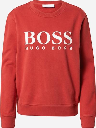 BOSS Casual Sweatjacke 'Ela' in rot / weiß, Produktansicht