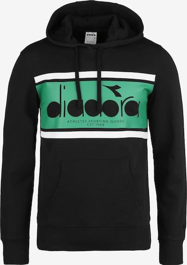 Diadora Hoodie 'Spectra' in grün / schwarz / weiß, Produktansicht