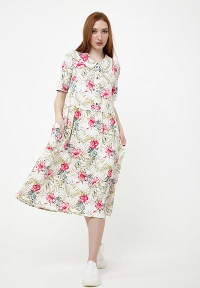Madam-T Sommerkleid 'BELLA' in beige / rosa, Modelansicht
