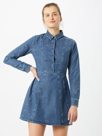 DENHAM Kleid 'Paris' in blue denim, Modelansicht