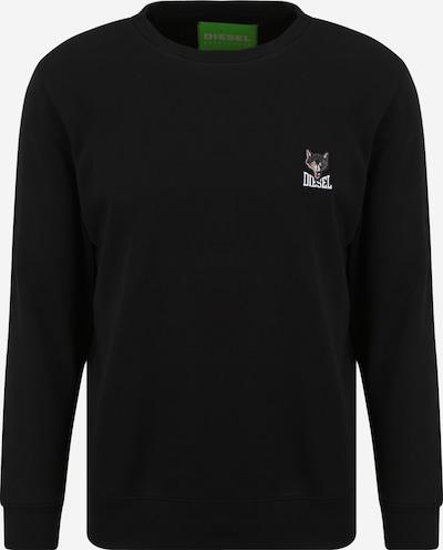 DIESEL Sweat-shirt 'UMLT-WILLY' en cappuccino / gris foncé / noir / blanc, Vue avec produit